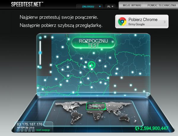 Szybkość lacza internetowego